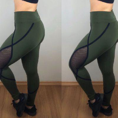 Calça fusô verde
